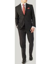 Harvie & Hudson - Grey Stripe Suit - Lyst