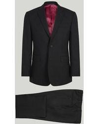 Harvie & Hudson - Grey Herringbone Merino Wool Suit - Lyst