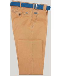 Harvie & Hudson - Orange Cotton Classic Fit Trouser - Lyst