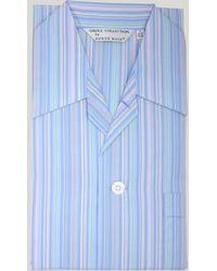 Harvie & Hudson Blue Multi Stripe Pyjamas