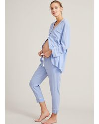 HATCH Maternity The Classic Pajama Set - Blue
