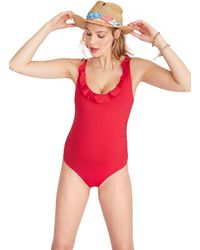HATCH Maternity The Antigua Maillot - Red