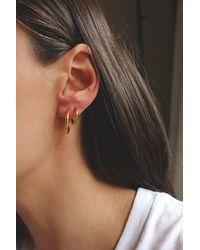 HAUS OF DECK Gold Huggie Hoop Earrings Set - Metallic