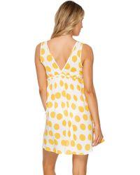 Luli Fama Plunging V Neck Short Sundress - Yellow