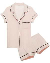 Eberjey Gisele Short Pj Set - Pink