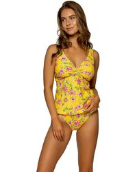 Sunsets Golden Hour Forever Tankini - Yellow
