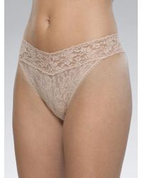 Hanky Panky - Lace High Rise Thong - Lyst