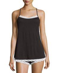 Cosabella - Majestic Lace-trim Camisole, Black/white - Lyst