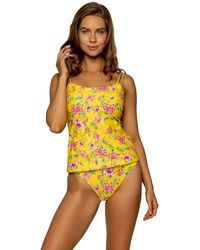 Sunsets Golden Hour Taylor Tankini - Yellow