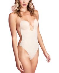 Fashion Forms U Plunge Backless Strapless Bodysuit - Natural
