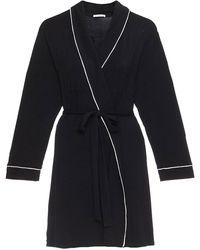 Eberjey Gisele Pj's The Tuxedo Robe - Black