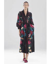 Natori Chrysanthemum Robe - Black