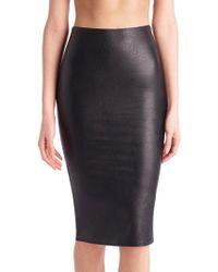 Commando Faux-leather Midi Skirt - Black