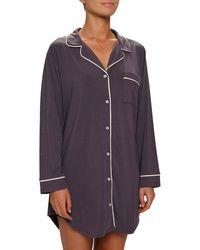 Eberjey Gisele Stretch Jersey Sleep Shirt - Purple