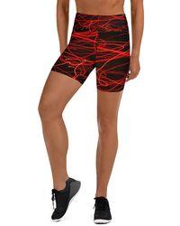 HAVAH Velvet High Waist Shorts - Multicolour
