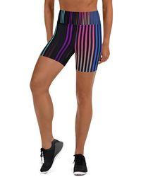 HAVAH Quesa High Waist Shorts - Blue