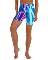HAVAH Laurita High Waist Shorts - Blue