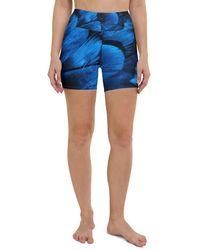 HAVAH Olah High Waist Shorts - Blue