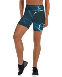 HAVAH Anateal High Waist Shorts - Blue