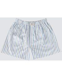 Hawes & Curtis Curtis Stripe Cotton Boxer Shorts - Blue