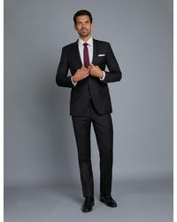 Hawes & Curtis Curtis Twill Extra Slim Fit Suit Jacket With Two Front Buttons - Black