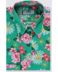 Hawes & Curtis Vintage Floral Fitted Shirt - Multicolour