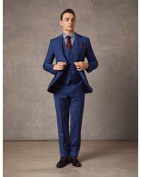 Hawes & Curtis - Indigo Prince Of Wales Plaid Slim Fit Suit Wool Curtis - Lyst