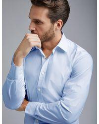 Hawes & Curtis - Dress Blue Slim Fit Cotton Stretch Shirt - Lyst