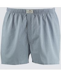 Hawes & Curtis Curtis Geometric Circles Cotton Boxer Shorts - Blue
