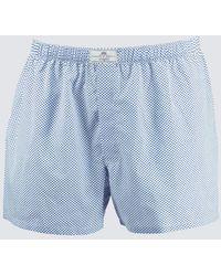 Hawes & Curtis Curtis Spots Cotton Boxer Shorts - Blue