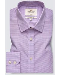 Hawes & Curtis Formal Check Extra Slim Fit Shirt - Blue