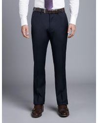 e44aeec2f4 Hawes & Curtis - Navy Twill Extra Slim Fit Suit Pants 32