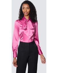 Hawes & Curtis Curtis Fitted Luxury Sat - Pink