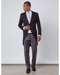 Hawes & Curtis Black & Grey Italian Wool Morning Suit