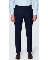 Hawes & Curtis Curtis Slim Fit Commuter Suit Trousers - Blue