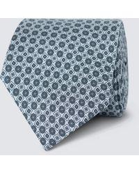 Hawes & Curtis Curtis Geometric Printed Tie - Gray