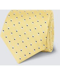 Hawes & Curtis Dotted Print Tie - Yellow