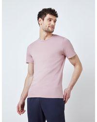 Hawes & Curtis Garment Dye Organic Cotton T-shirt - Pink