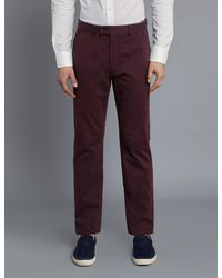 Hawes & Curtis Garment Dye Classic Fit Chinos - Multicolour