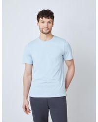 Hawes & Curtis Curtis Garment Dye Organic Cotton T-shirt - Blue