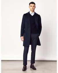 Hawes & Curtis Curtis Italian Wool Coat - Blue