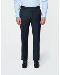 Hawes & Curtis Curtis Birdseye Slim Fit Suit Trouser - Blue