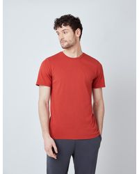 Hawes & Curtis Curtis Garment Dye Organic Cotton T-shirt - Red