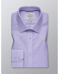 Hawes & Curtis Curtis Formal Dobby Extra Slim Fit Shirt - Purple