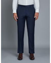 Hawes & Curtis Curtis Twill Extra Slim Fit Suit Pants - Blue