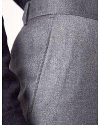 Hawes & Curtis Italian Flannel Trousers - Grey