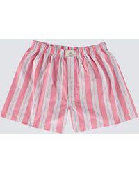 Hawes & Curtis Bold Stripe Cotton Boxer Shorts - Multicolor
