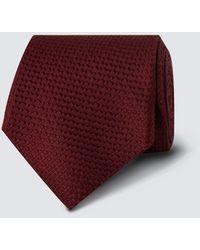 Hawes & Curtis Curtis Textured Plain Tie - Purple