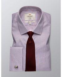 Hawes & Curtis Formal Grid Check Extra Slim Fit Shirt - Blue