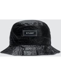 5cda8a05326 Stussy Vera Bucket Hat in Black - Lyst